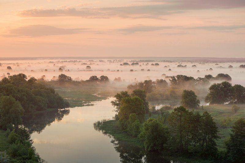 утро,туман,река,свет,лето,пейзаж *****photo preview