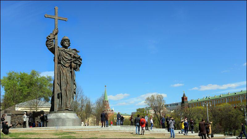 москва, памятник, князь, владимир ---= святой князь Владимир =---photo preview