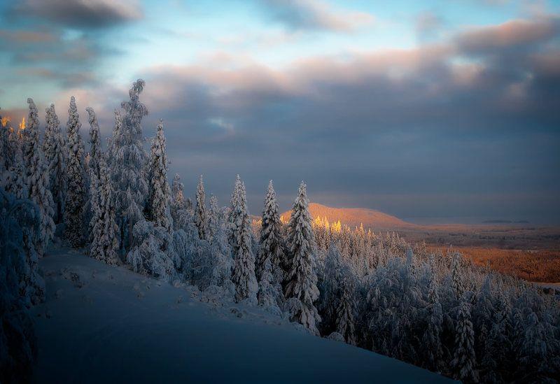Северная Карелия , зимние сумерки .photo preview