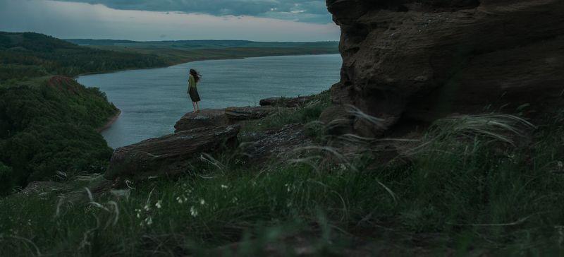 aslikul, nature, lake, bashkortostan, rock, morning, weather, wind, girl,  Aslikulphoto preview