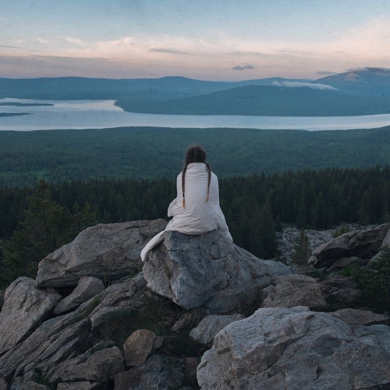 girl, lake, russia, nature, mountain, rock, rocks, mountains, freedom, forest,  Zuratkulphoto preview