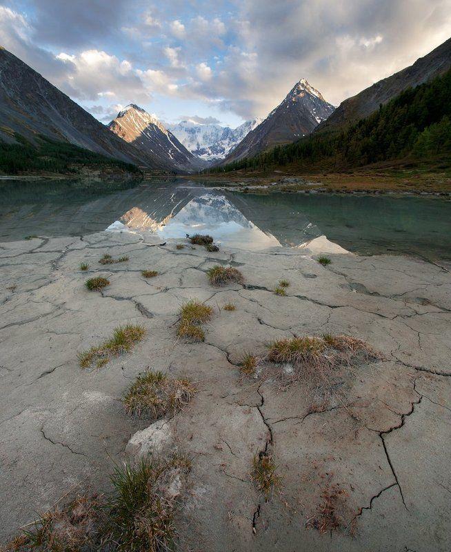 путешествия, белуха, алтай, туризм, исследование, пейзаж, горы, катунский хребет, аккем Закат на Аккемеphoto preview