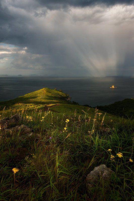 приморский край, заповедник, рассвет, море, солнце в прицеле природыphoto preview