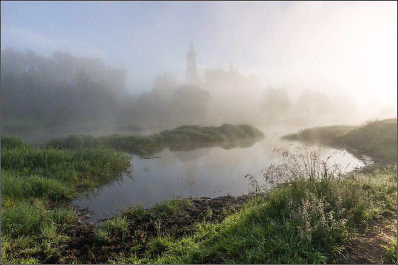 россия, владимирская обл, филипповское Утро на реке Шернаphoto preview