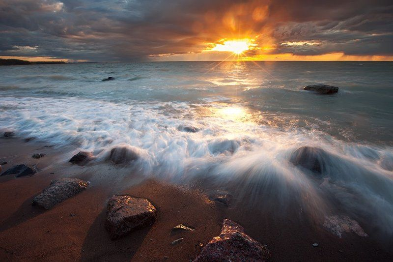 закат  море вечер пейзаж ключенков Классика жанраphoto preview