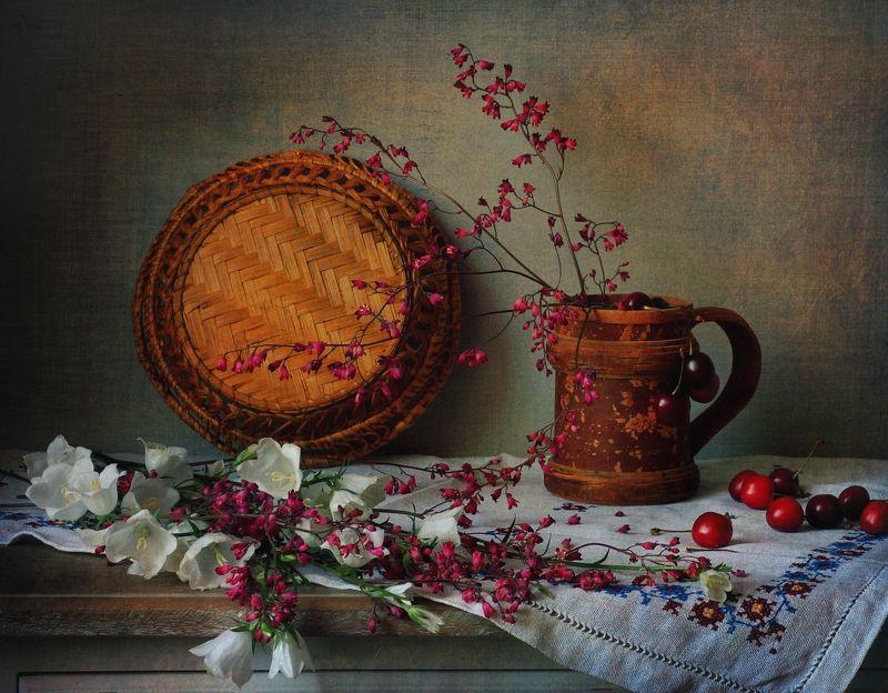 лето, букет, ягоды, цветы Летний сюжетик )photo preview