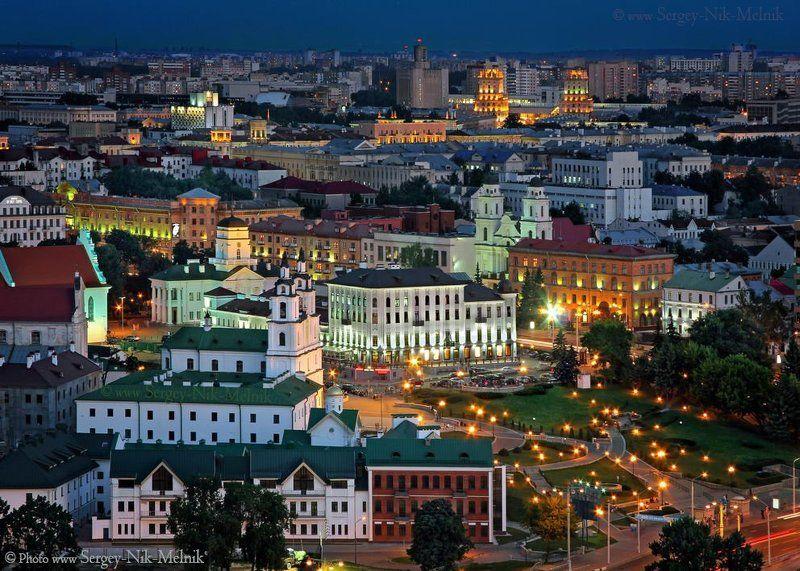 беларусь, город, минск, вечер, фотосфера-минск Игрушечный городокphoto preview
