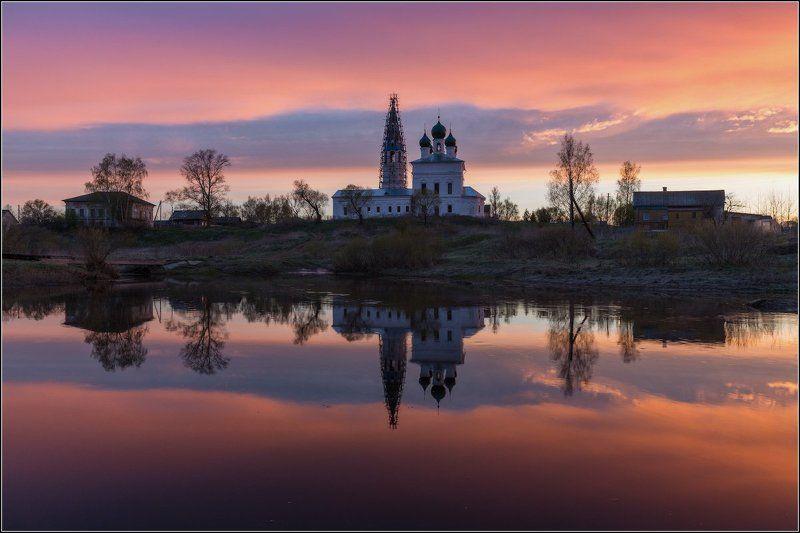 Россия, Ярославская обл, Осенево Огненный рассветphoto preview