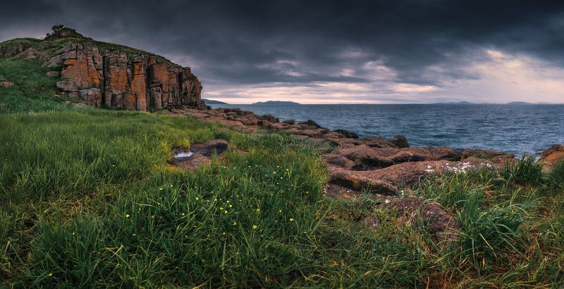 панорама, море, скалы photo preview
