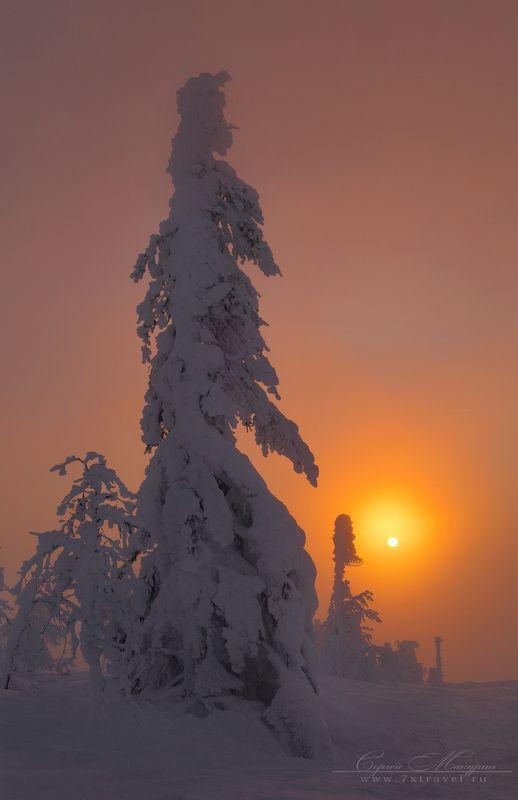 Одним январским утром на Главном Уральском хребте.photo preview
