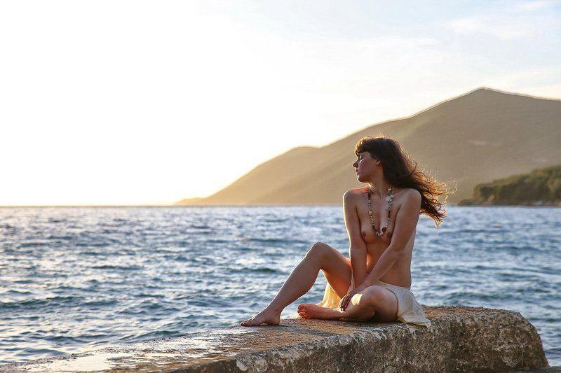 girl, nude, sea, greece, morning Meeresbrisephoto preview