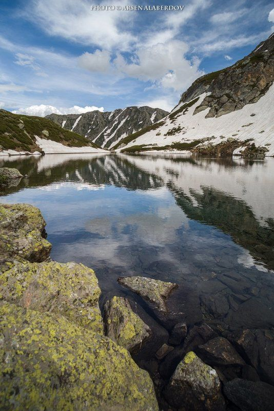 горы, предгорья, хребет, вершины, пики, озеро, лёд,отражение,снег,скалы, холмы, долина, облака, путешествия, туризм, карачаево-черкесия, кабардино-балкария, северный кавказ ЛЕТО НА ДУККИНСКИХ ОЗЁРАХphoto preview