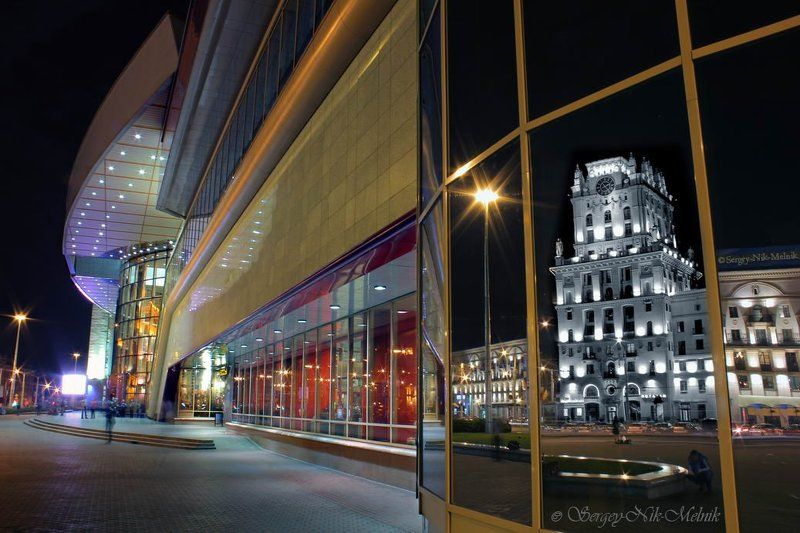 беларусь, город, минск, вечер, фотосфера-минск Соприкосновение столетийphoto preview
