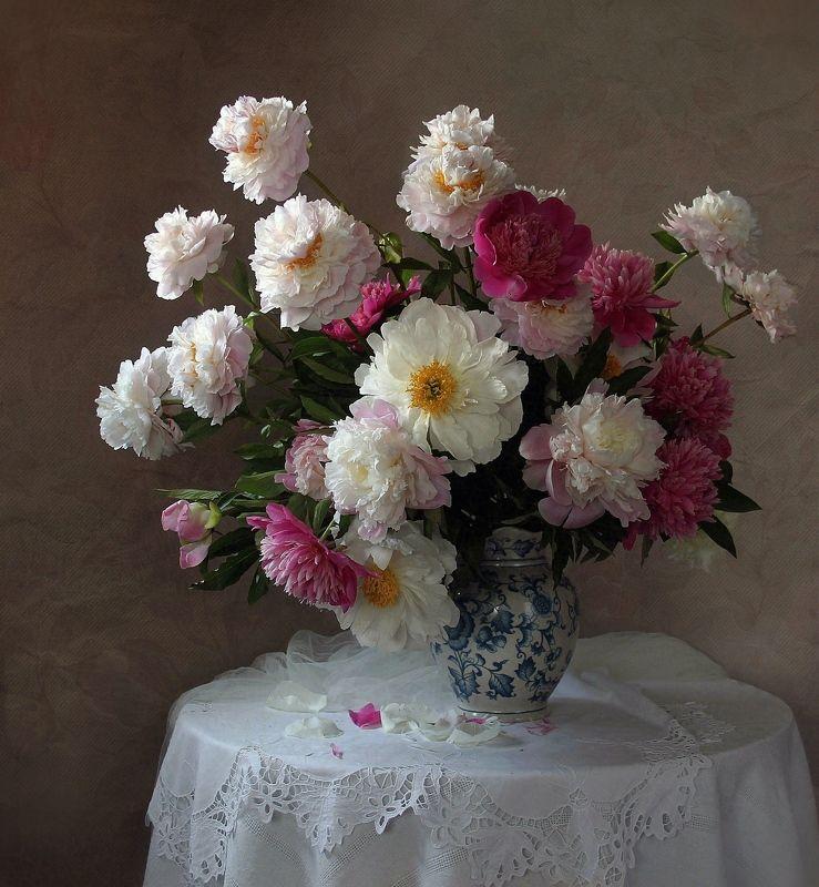 натюрморт, цветы, марина филатова Благоуханье пионов нежныхphoto preview