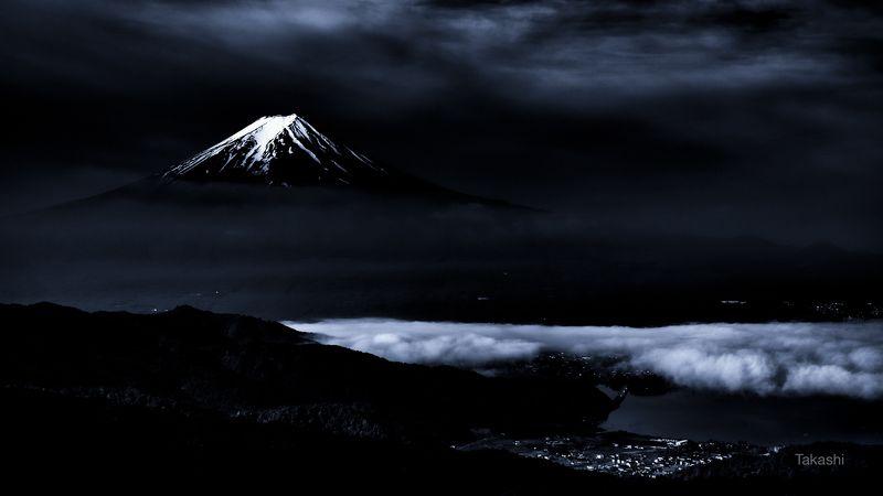 Fuji,mountain,Japan,clouds,snow,lake,scenery,beautiful,blue,amazing,landscape, Scenery Xphoto preview