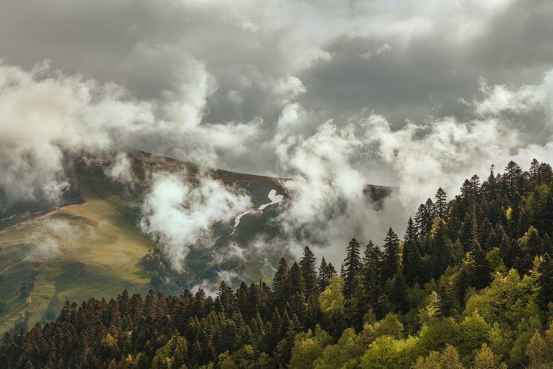 природа, россия, горы, рассвет, архыз, путешествие, travel, russia, landscape, nature, природа россии Облачный Архызphoto preview