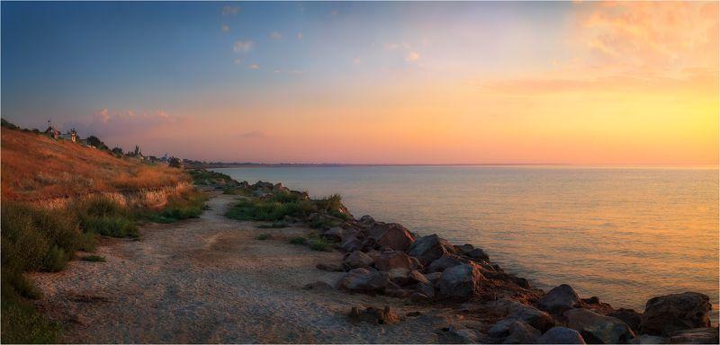 рассвет, море,небо, Берег Азоваphoto preview