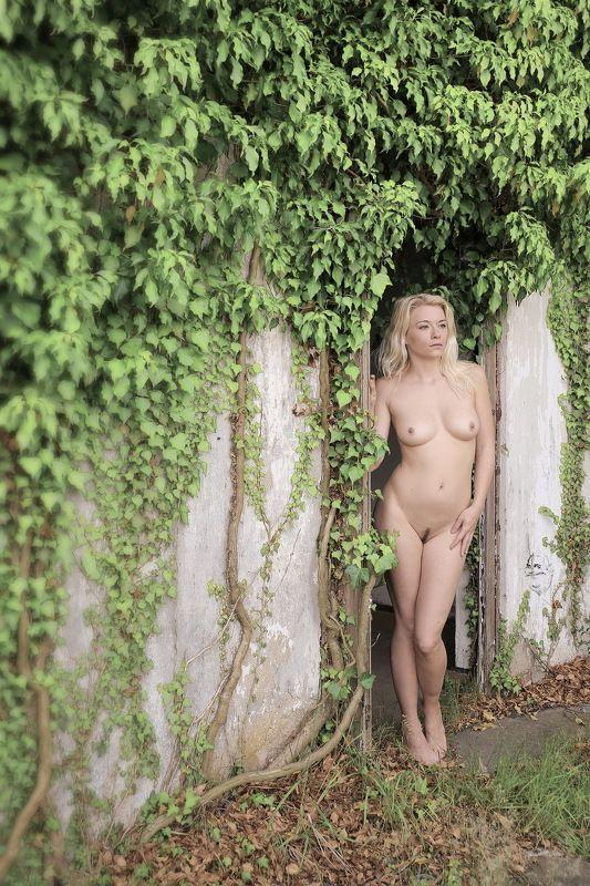 green, girl, nude. artnude, outdoor, Efeuphoto preview