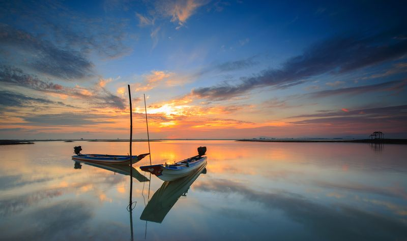 viet nam, lake, boat Togetherphoto preview