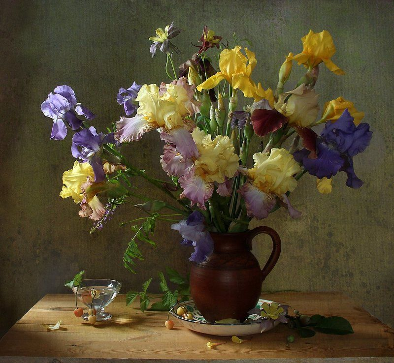 натюрморт, цветы, марина филатова, ирисы Ирисыphoto preview