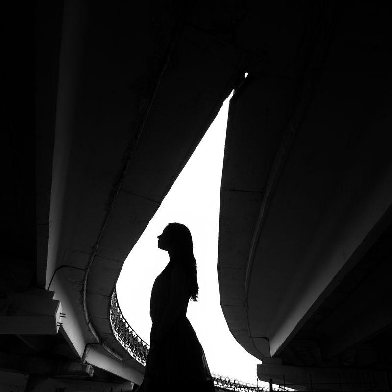 девушка, свет, геометрия ***photo preview