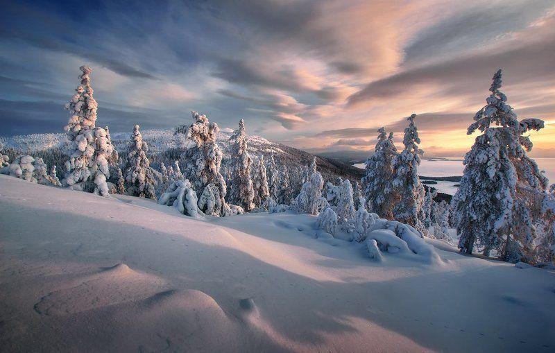 кольский полуостров, мурманская,кандалакша Лапландская зимаphoto preview