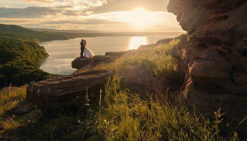 wedding, lake, nature, sunset, fujifilm, fujifilmru,  Weddingphoto preview