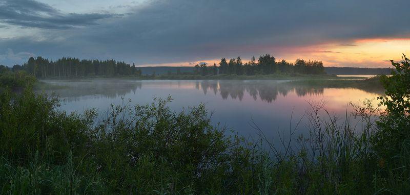 после дождя, озеро, отражение, тишина, тёплый вечер, июль Июльский вечерphoto preview