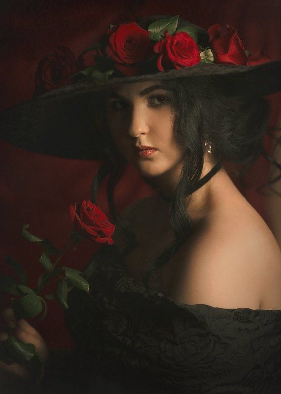 Девушка с розой.photo preview
