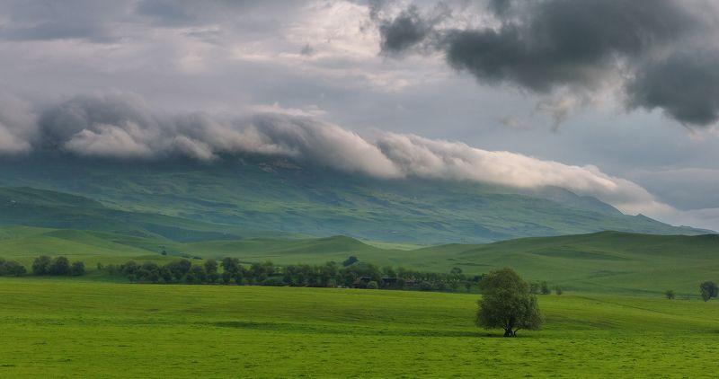 кчр преградная утро июнь рассвет облачность Надвигалась облачностьphoto preview