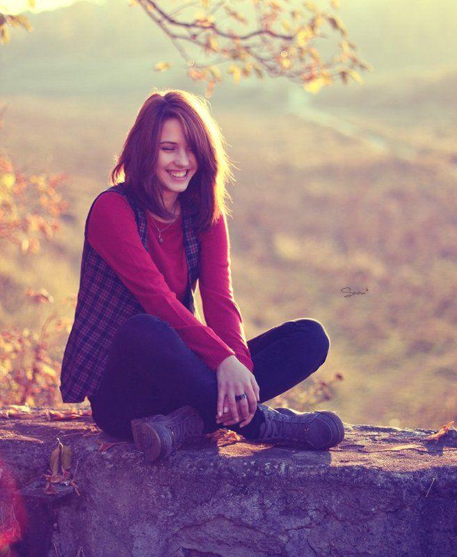 девушк, портрет, осень, улыбка autumn feelingsphoto preview