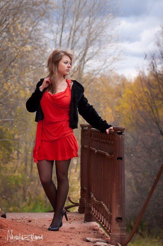 осень, девушка Уж небо осенью дышало...photo preview