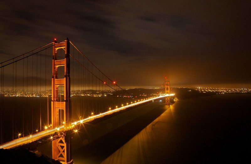Night Golden Gate Bridgephoto preview