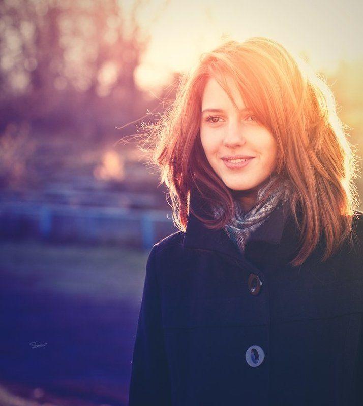 девушка, портрет, осень, солнце Sunshinephoto preview