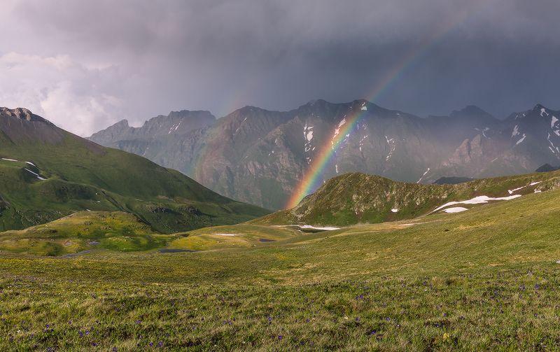 пхия пятиозёрье скала загедан лето июнь радуга Сюрпризы непогодыphoto preview