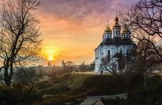 Закат в древнем Чернигове