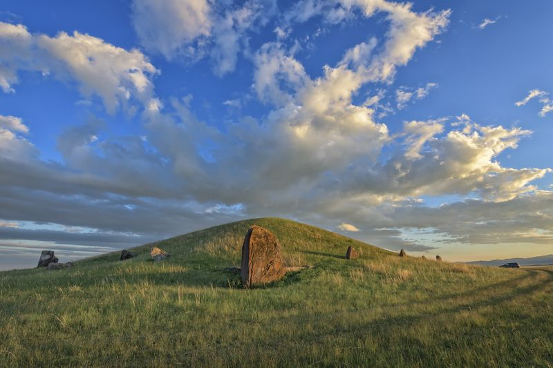 пейзаж,Хакасия,курган,Салбыкский курган,степь,Россия,путешествия, Хакасия.photo preview