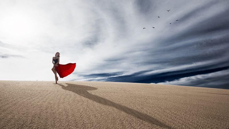 nikon, d750, 12-24, портрет, дюны, песок, девушка, платье ***photo preview