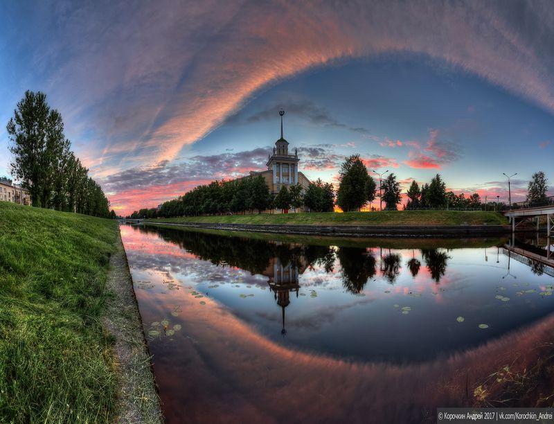 ...Колпино, Комсомольский канал, мгновения заката...photo preview