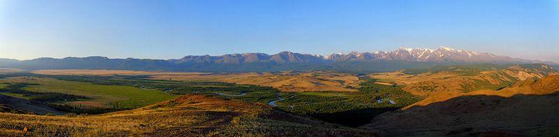 пейзаж, горы, лето, Горный Алтайм В рассветном свете photo preview