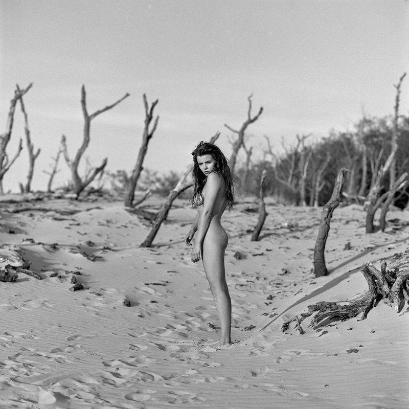 akt, nude, analog, hasselblad, ninoveron, women, sun, eyes, desert, fineart, Veseyphoto preview