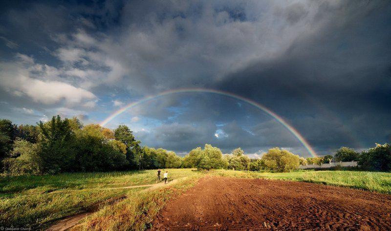украина, коростышев, красота, природа, радуга, облака, тучи, дети, радость, пейзаж, oleksandr chornyi \