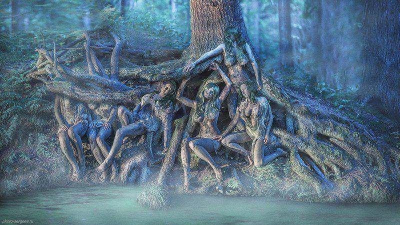 девушки, лес,кикиморы,болото,арт,фото-арт,фэнтази Корниphoto preview