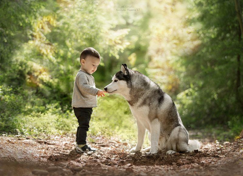 Кирюша и серый волк:)))photo preview