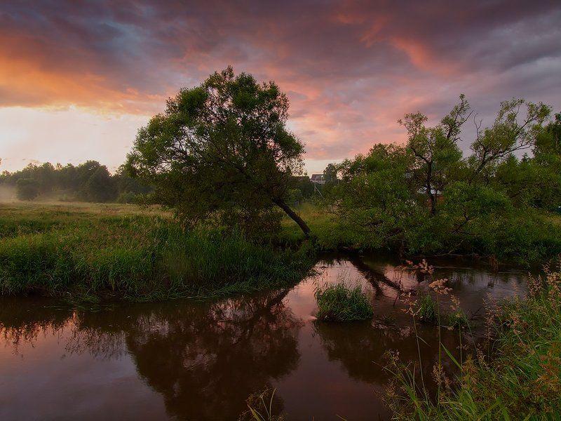 пейзаж рассвет утро небо Мгновенья рассвета текущего лета...photo preview