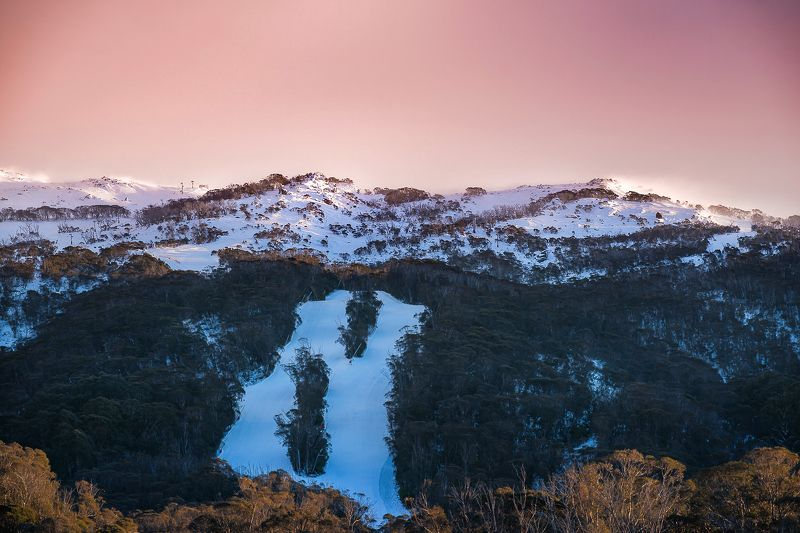 mountain, landscape, sunrise, snow, sky, pink, top snowy mountainsphoto preview