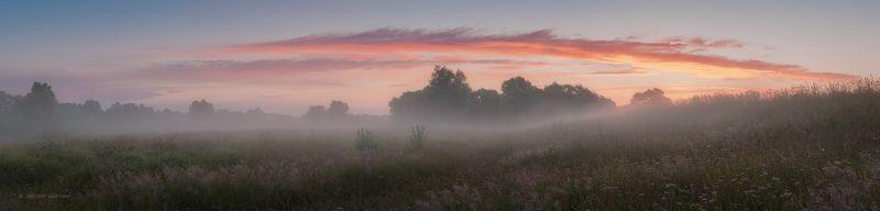 рассвет, пейзаж, угра Июльское утро в Российской глубинке...photo preview