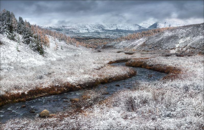 алтай, горы, осень, улаганский перевал, Поседело ...photo preview
