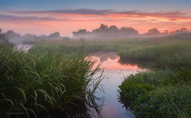 пейзаж, рассвет, угра Угранское утро...photo preview
