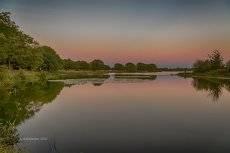Лунское озеро после заката